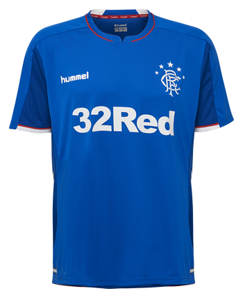 RANGERS FC HOME 18/19 JERSEY S/S, BLUE/WHITE/RED, packshot