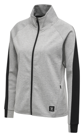 hmlESSI ZIP JACKET , GREY MELANGE, packshot