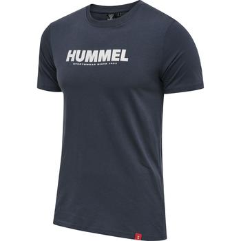 hmlLEGACY 2-PACK T-SHIRT, GREY MELANGE/BLUE NIGHTS, packshot