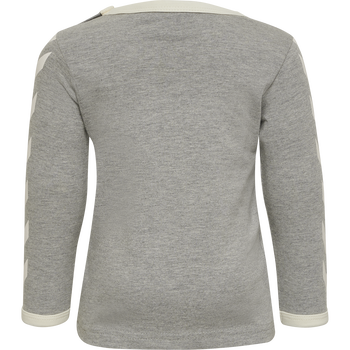 hmlFLIPPER T-SHIRT L/S, GREY MELANGE, packshot