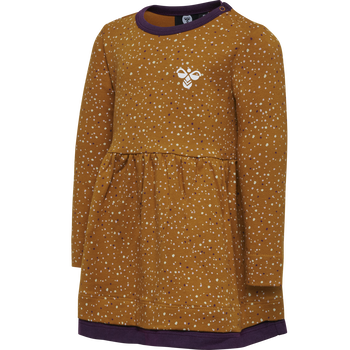 hmlDORY DRESS L/S, PUMPKIN SPICE, packshot