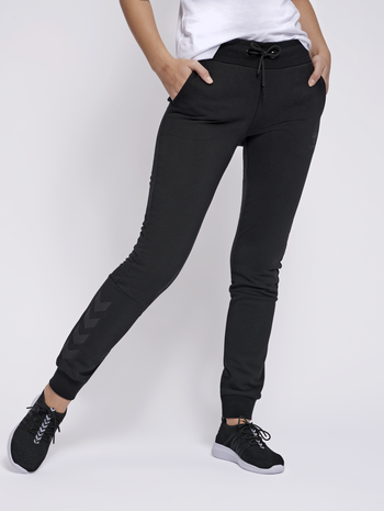 hmlNONI REGULAR PANTS, BLACK, model