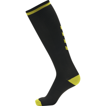 ELITE INDOOR SOCK HIGH, BLACK/BLAZING YELLOW, packshot