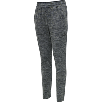 hmlASTON KIDS TAPERED PANTS, DARK GREY MELANGE, packshot