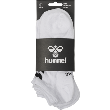 hmlCHEVRON 6-PACK ANKLE SOCKS, WHITE, packshot