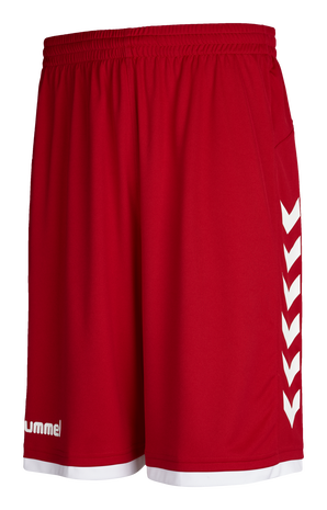 CORE BASKET SHORTS, TRUE RED, packshot