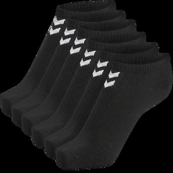 hmlCHEVRON 6-PACK ANKLE SOCKS, BLACK, packshot