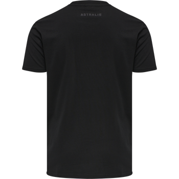 ASTRALIS T-SHIRT S/S, BLACK, packshot