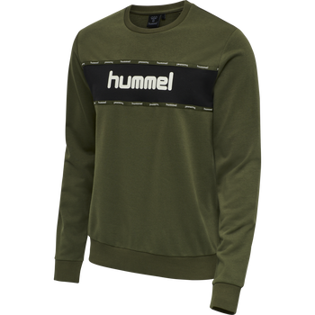 HMLMELAMOUS SWEAT SHIRT, FOREST NIGHT, packshot
