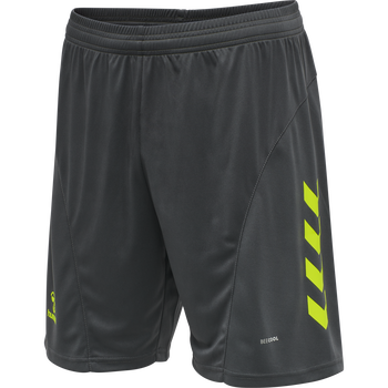 hmlACTION SHORTS, APSHALT/SAFETY YELLOW, packshot