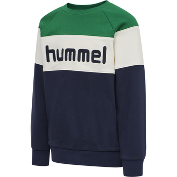 hmlCLAES SWEATSHIRT, ULTRAMARINE GREEN, packshot