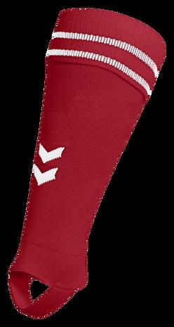 ELEMENT FOOTBALL SOCK FOOTLESS, TRUE RED/WHITE, packshot
