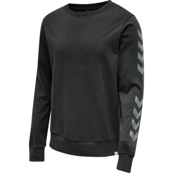 hmlLEGACY CHEVRON SWEATSHIRT, BLACK, packshot