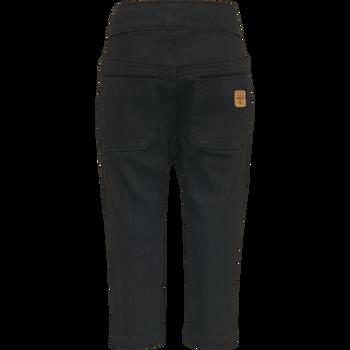 hmlLEO PANTS, BLACK DENIM, packshot