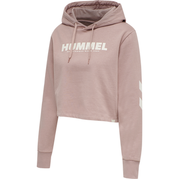 hmlLEGACY WOMAN CROPPED HOODIE, WOODROSE, packshot