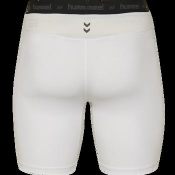 HUMMEL FIRST PERFORMANCE TIGHT SHORTS, WHITE, packshot