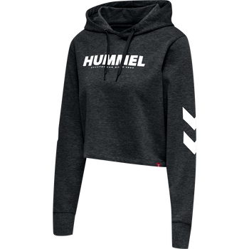 hmlLEGACY WOMAN CROPPED HOODIE, BLACK, packshot
