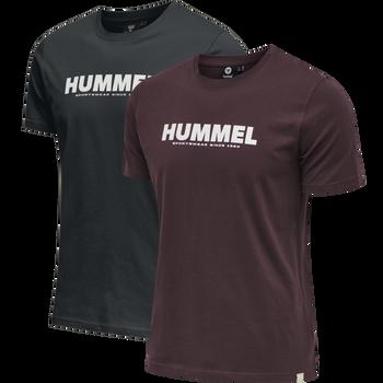 hmlLEGACY 2-PACK T-SHIRT, BLACK/FUDGE, packshot
