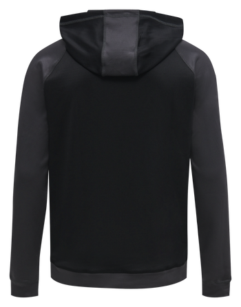 hmlACTION ZIP HOODIE SWEAT KIDS, BLACK/ASPHALT, packshot