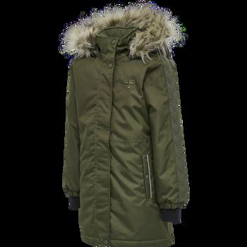 hmlLEAF COAT, OLIVE NIGHT, packshot