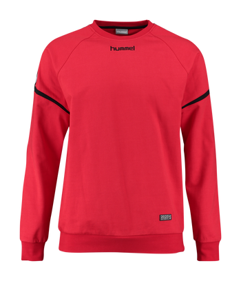 AUTH. CHARGE COTTON SWEATSHIRT, TRUE RED, packshot