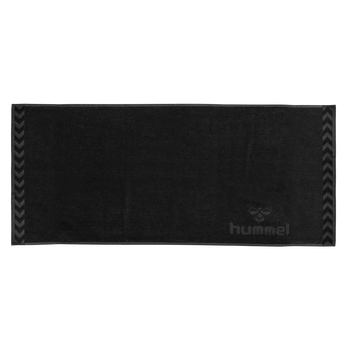 HUMMEL LARGE TOWEL, BLACK, packshot