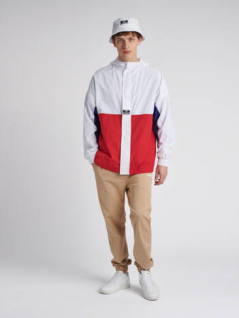 hmlVEJR LOOSE ZIP JACKET, WHITE, model