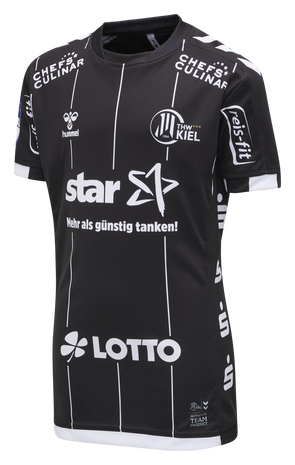 THW KIEL 19-20 KIDS AWAY JERSEY S/S, BLACK, packshot