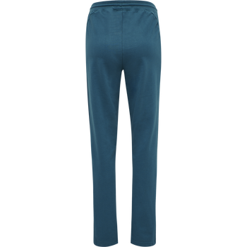 hmlACTION COTTON PANTS WOMAN, BLUE CORAL/GREEN ASH, packshot