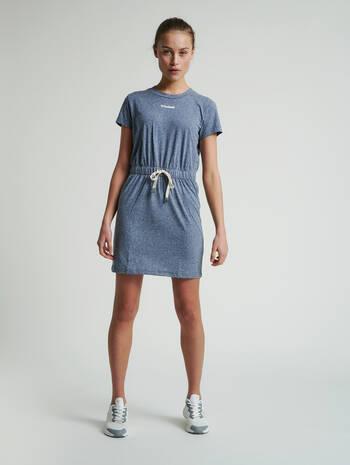 hmlZANDRA DRESS, BLUE NIGHTS MELANGE, model