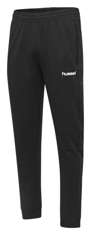 HUMMEL GO COTTON PANT, BLACK, packshot
