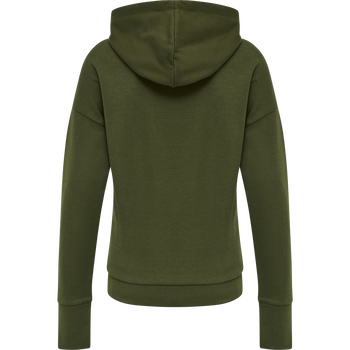 HMLCAMILEST ZIP HOODIE, FOREST NIGHT, packshot