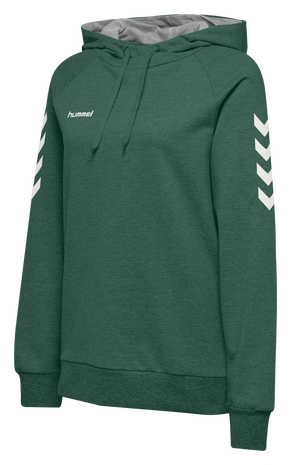 HUMMEL GO COTTON HOODIE WOMAN, EVERGREEN, packshot