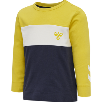 hmlLAURITS T-SHIRT L/S, MAIZE, packshot