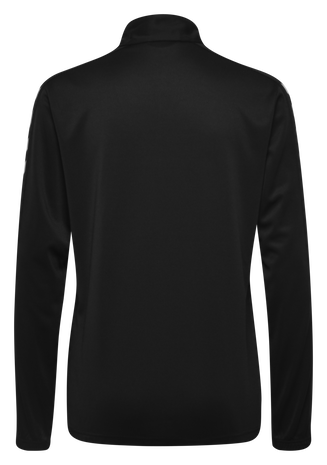 CORE HALF ZIP SWEAT WOMAN, BLACK, packshot