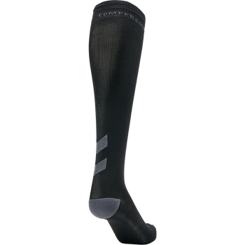 ELITE COMPRESSION SOCK, BLACK/ASPHALT, packshot