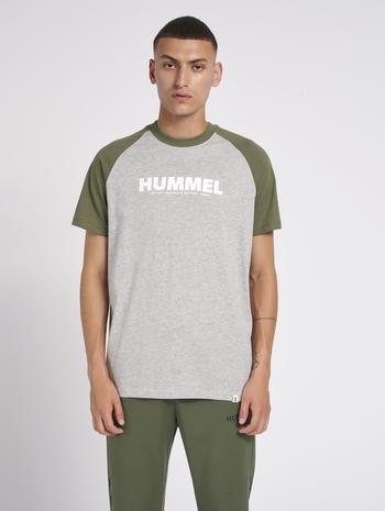 hmlLEGACY BLOCKED T-SHIRT, BEETLE, model