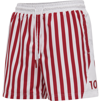 DBU FAN 2020 SWIM SHORTS, TANGO RED/WHITE, packshot