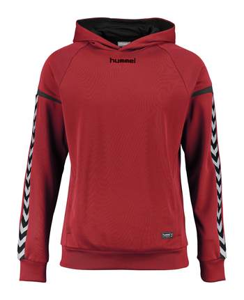 AUTH. CHARGE POLY HOODIE, TRUE RED, packshot