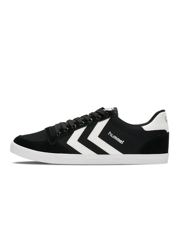 HUMMEL SLIMMER STADIL LOW, BLACK/WHITE KH, packshot