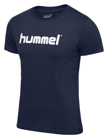 HUMMEL GO KIDS COTTON LOGO T-SHIRT S/S, INDIA INK, packshot