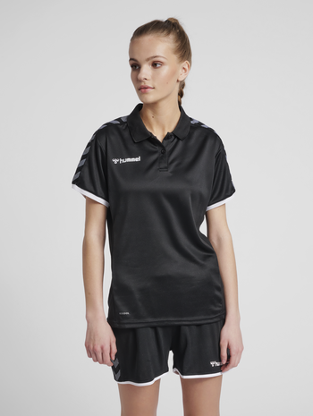 hmlAUTHENTIC WOMAN FUNCTIONAL POLO, BLACK/WHITE, model