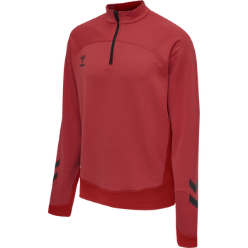 hmlLEAD HALF ZIP, TRUE RED, packshot