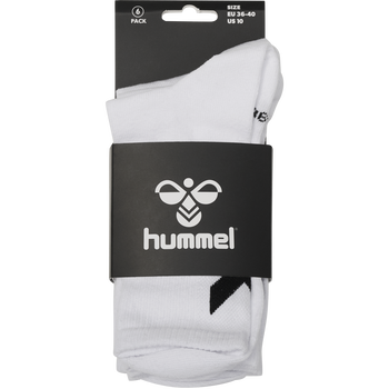 hmlCHEVRON 6-PACK SOCKS, WHITE, packshot