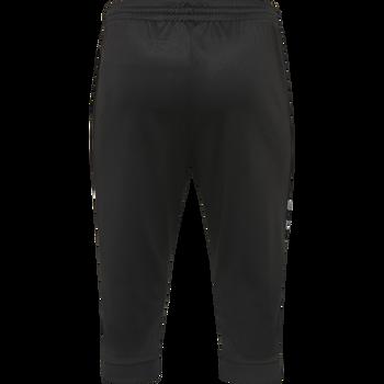 hmlAUTHENTIC 3/4 PANT, BLACK/WHITE, packshot
