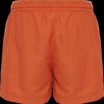 hmlBONDI BOARD SHORTS, MANDARIN RED, packshot