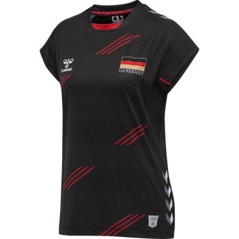 DVV 21 AWAY JERSEY S/S WOMAN, BLACK, packshot