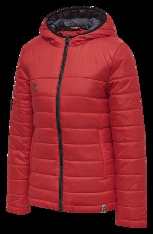 hmlNORTH QUILTED HOOD JACKET WOMAN, TRUE RED, packshot