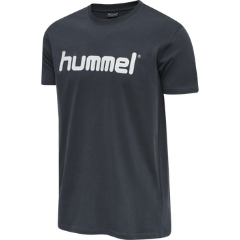 HUMMEL GO COTTON LOGO T-SHIRT S/S, INDIA INK, packshot