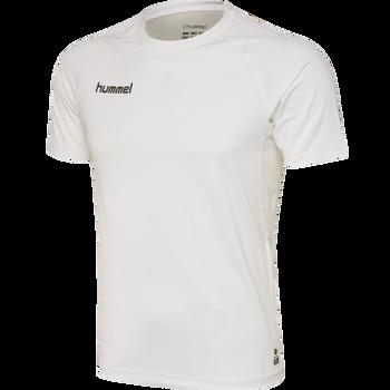 HUMMEL FIRST PERFORMANCE JERSEY S/S, WHITE, packshot